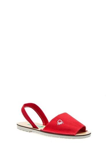 Benetton Bn1009 Kadın Sandalet Kırmızı